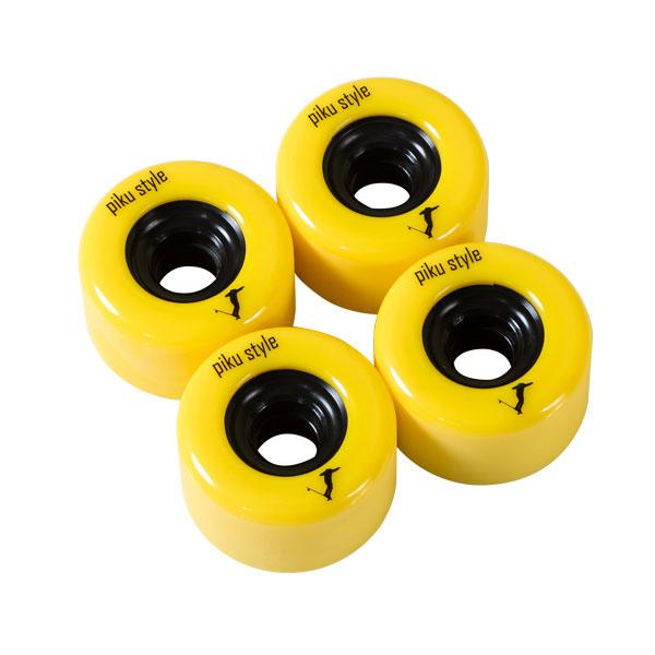 69x45mm freedem longboard wheels Piku style -yellow