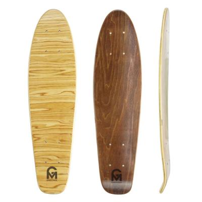 7ply canadian maple cruiser skateboard with stain wood on the top