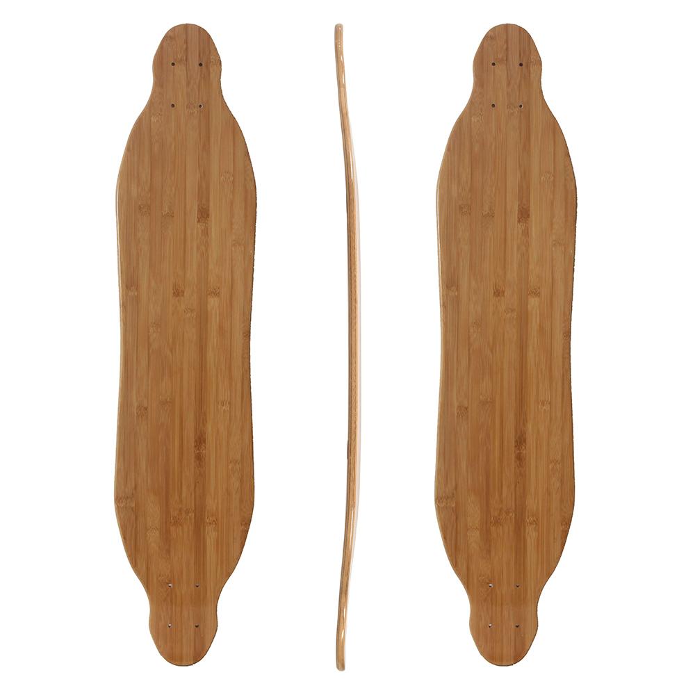 38.75x8.5 bamboo with fiberglass longboard deck for electric skateboard
