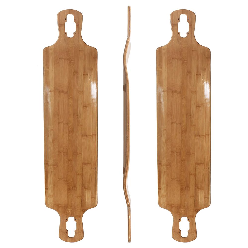 42x9.75 inch bamboo with fiberglass Dropdown longboard deck