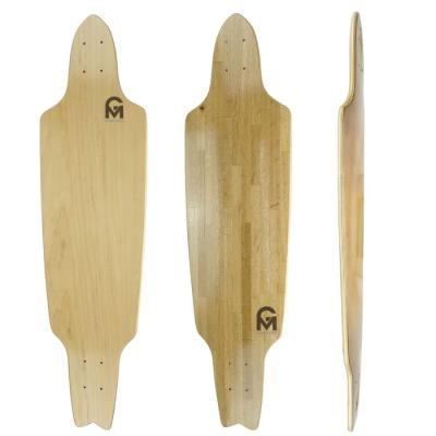 38.5x10 drop through longboard skateboard deck