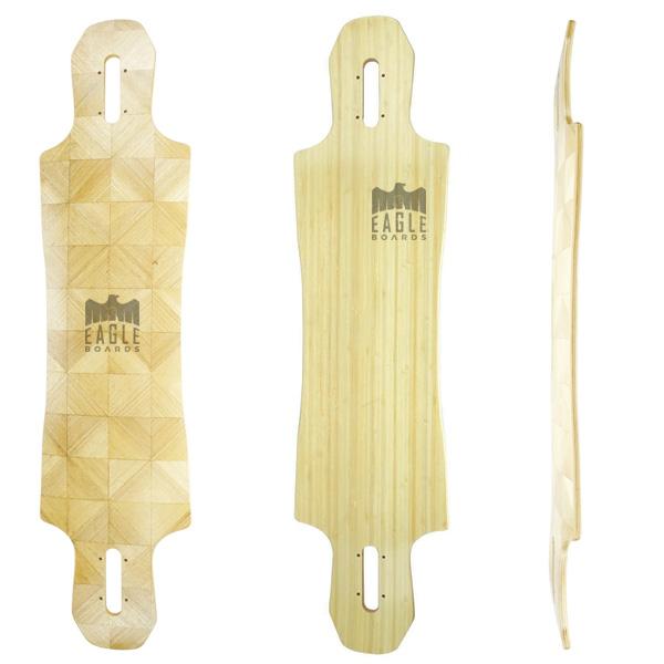39x9.75inch bamboo maple drop through longboard deck