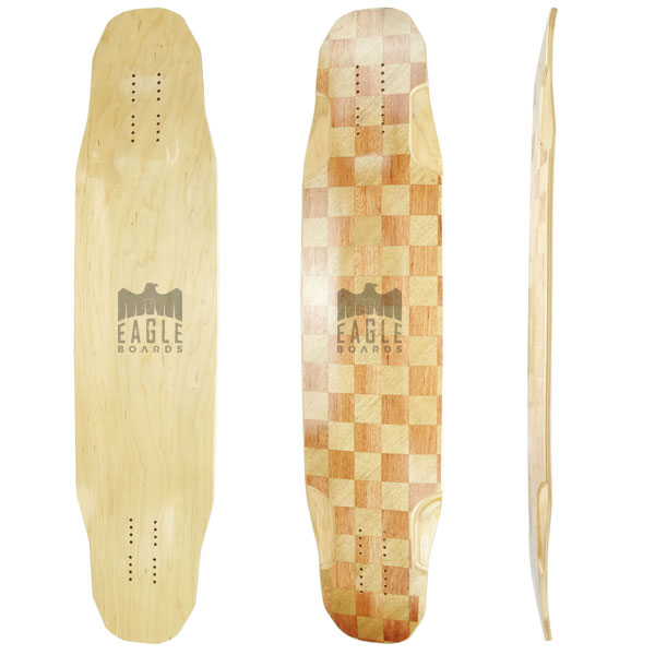 40X9.5 inch 8ply canadian maple freedom style longboard deck