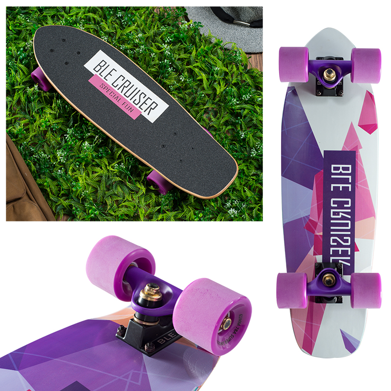 24 inch cruiser skateboard geometric colorful