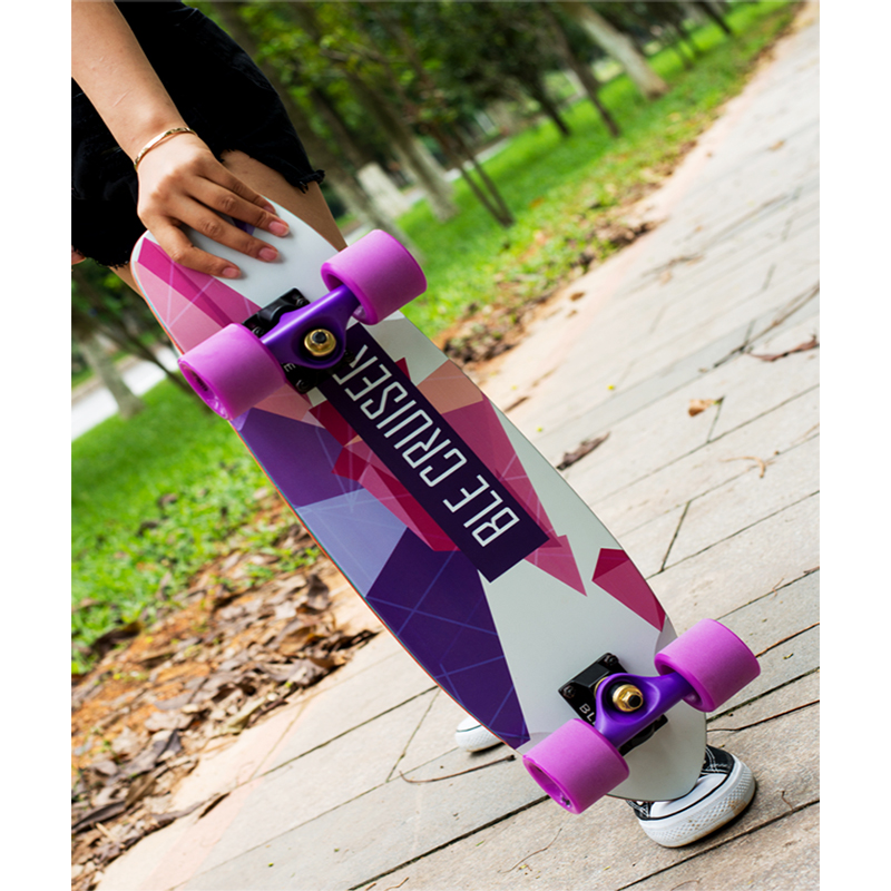 24 inch cruiser skateboard geometric colorful