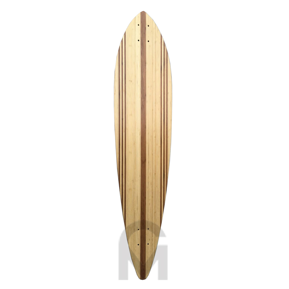 Specially bamboo stripe layer for longboard